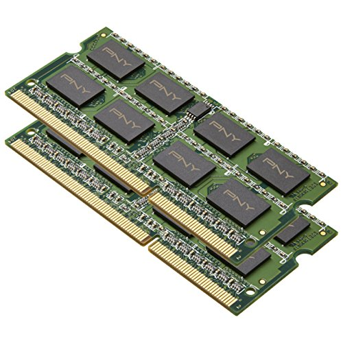 Pny Dual Memory - PNY 16GB (2 x 8GB) DDR3 1600MHz (PC3  12800) 204-Pin CAS CL11 Dual Channel Notebook Memory Module Kit - MN16384KD3-1600