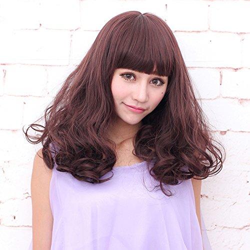 Source wire wig hair girls scroll fluffy pear head hair fashion magazine Korea realistic