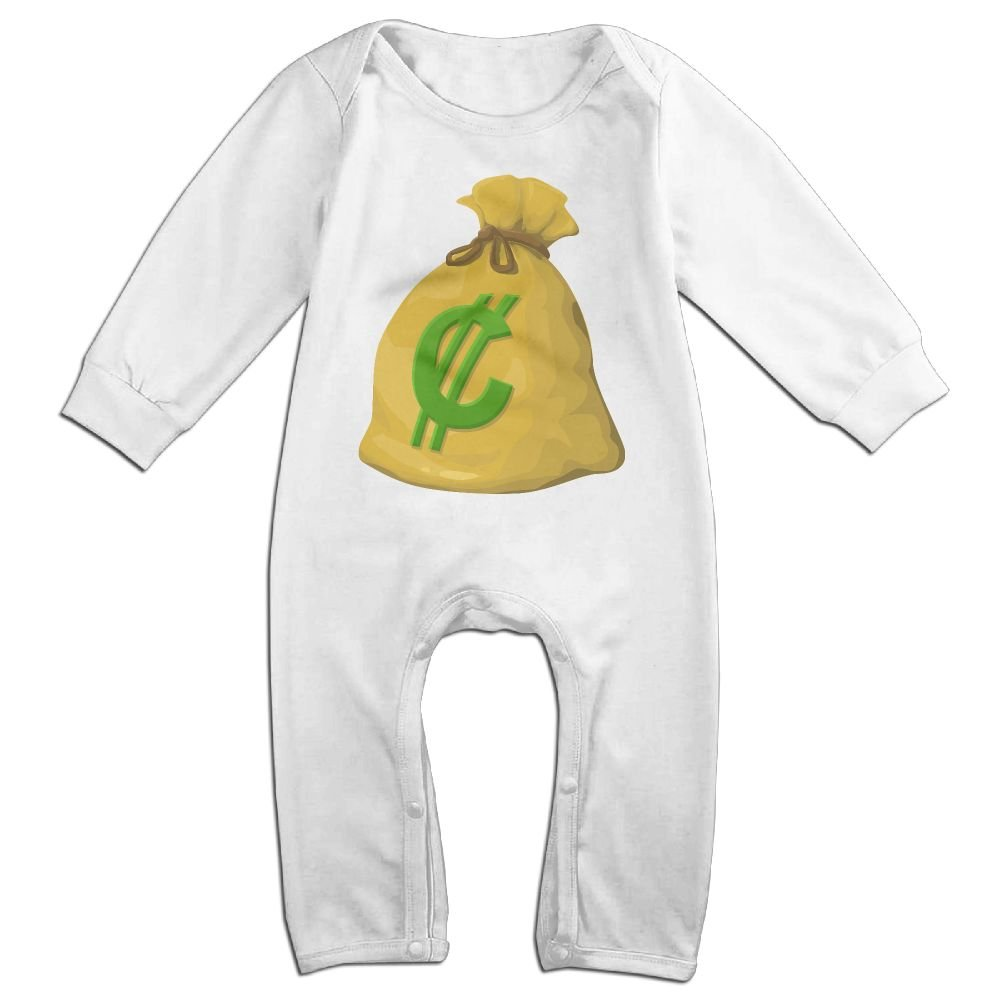 GooReady Big Money Bag Baby Infant Romper Long Sleeve Bodysuit