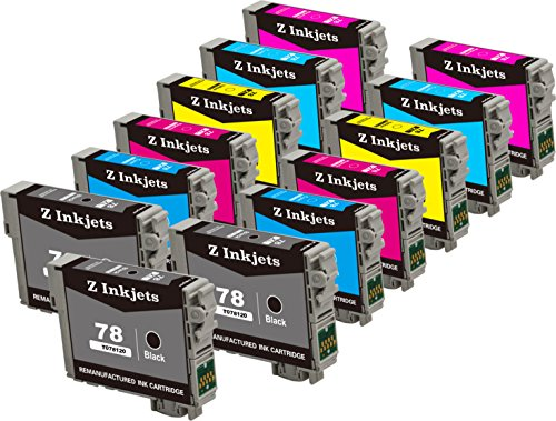 Inkjet Cartridge 13 (13 Pack Z Inkjets Remanufactured Ink Cartridges for Epson 78 T078120 T078320 T078220 T078420 T078520 T078620 Stylus Photo R260 R280 R380 RX580 RX595 RX680 Artisan 50)
