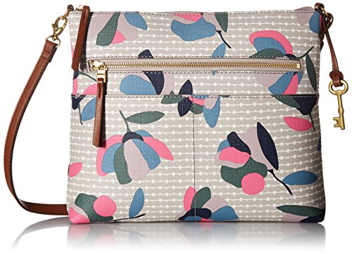 Fossil Fiona Large Crossbody Bag, Floral Multi/White,One Size by Fossil