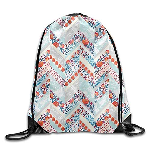 All agree Drawstring Backpack Gym Bag Travel Backpack, Floral Pattern, Gym Drawstring Backpack for Women Men Adults from All agree