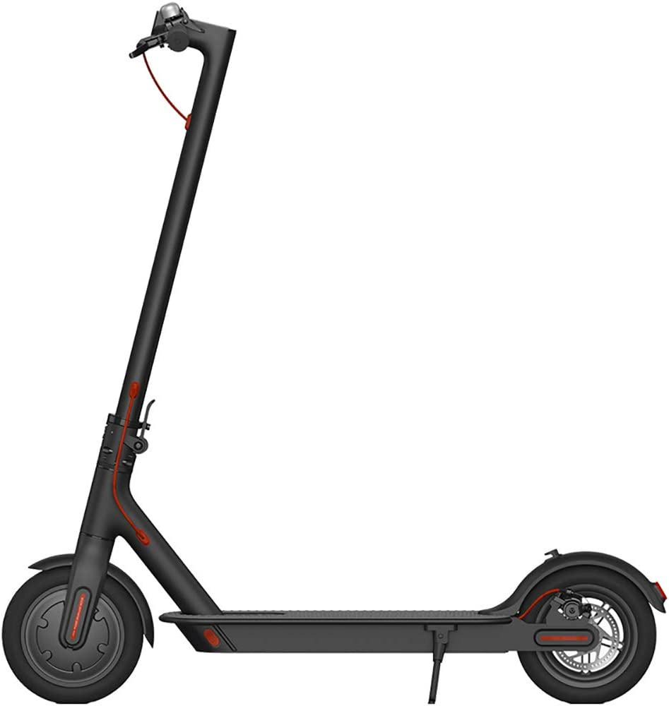 ポータブル電動スクーター、シンプルな幾何学デザイン30 kmの走行距離、ダブルブレーキシステムとLEDヘッドライト、人間化されたスロットルデザイン 黒