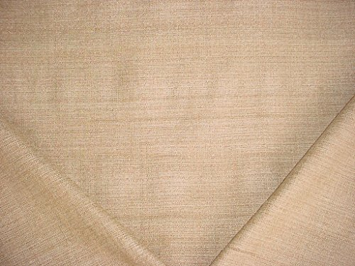 20RT3 - Fawn / Almond / Metallic Gold Velvety Chenille Check Weave Designer Upholstery Drapery Fabric - By the Yard