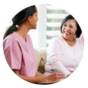 alfombrilla de ratón Enfermera haciendo notas durante visita al hogar con pareja de ancianos - ronda - 20cm