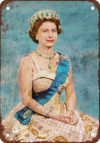 Lotusworld 1954 Plaque en m/étal Vintage Queen Elizabeth II 20,3 x 30,5 cm
