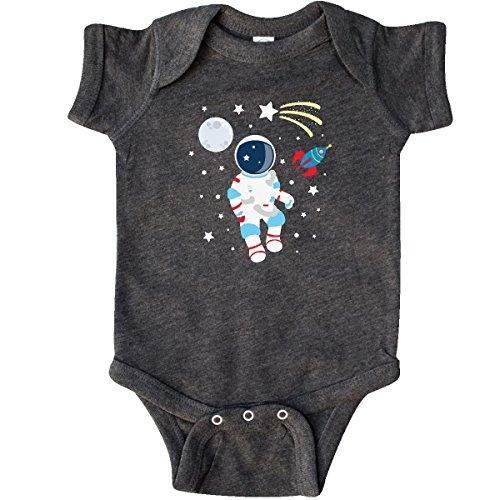 inktastic - Astronaut The Moon Infant Creeper Newborn Retro Heather Smoke 29bd1 -