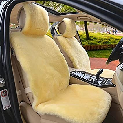 Aegis cover 701003GOLD Gold Color Luxury Australian Sheepskin Semi Custom Seat Cover Vest