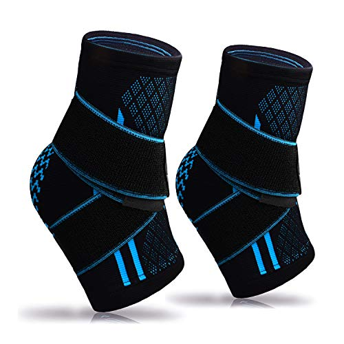 Plantar Fasciitis Socks(Pair),Compression Ankle Brace Sleeve with Arch Support for Eases Swelling&Achilles Tendonitis Heel Spurs Swelling Foot Pain Relief (Black-Pair)