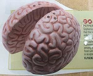 Right Brain / Left Brain Salt and Pepper Shaker Set - Flesh Color