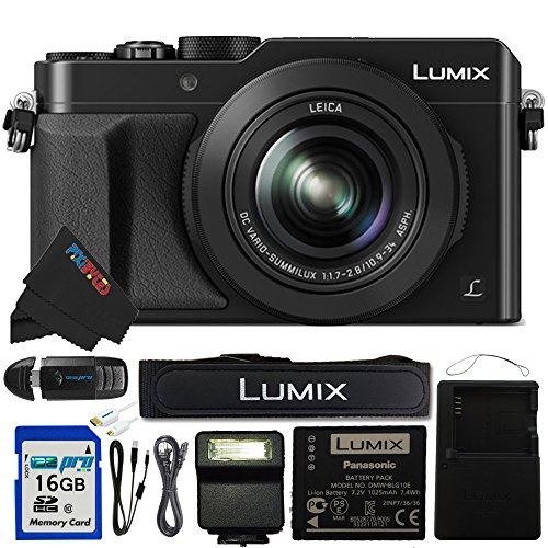 Panasonic PANLX100 16GB4PC Digital Camera Black