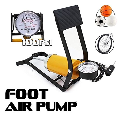 Bicycle Bike Foot Operated Tire Pump Inflator Basketball Air Mattress Ball FAST