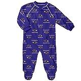 Outerstuff NFL Baltimore Ravens Newborn & Infant Raglan Zip Up Coverall Ravens Purple, 24 Months