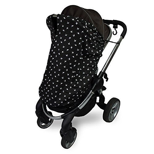 Outlook Universal Cotton Sleep Eazy Stroller Cover (Black Swallows) by Outlook 2010 (Image #3)