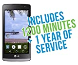 LG Sunset 4.5'' 4G LTE Android 5.0 TracFone with 1200 Minutes/Texts/Data, Triple Minutes for Life