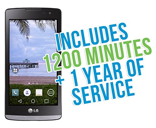 LG Sunset 4.5' 4G LTE Android 5.0 TracFone with 1200 Minutes/Texts/Data, Triple Minutes for Life