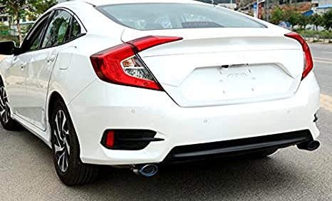 Amazon.com: 2pcs/pair Steel Exhaust End Tip Pipes For Honda Civic 10th Gen 4dr Sedan 2016 2017: Automotive