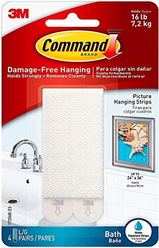 Command Bath Picture Hanging