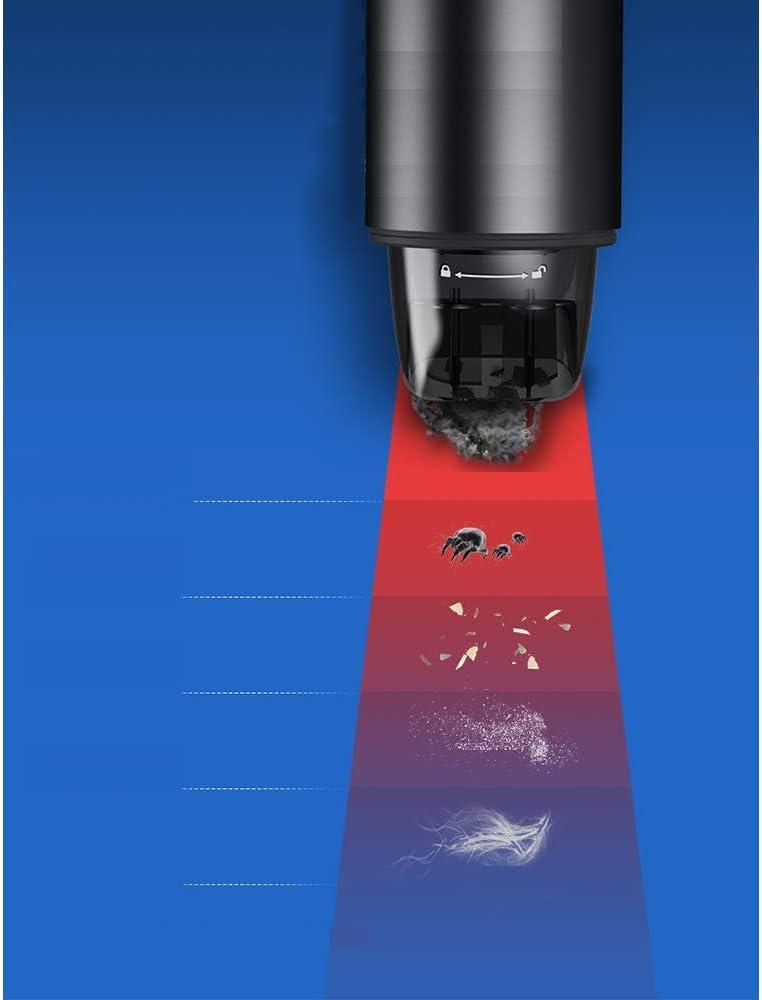 LUONE Aspirateur de Voiture, Grande Aspiration, Haute Puissance, sans Fil à Double Usage, Aspirateur Automatique Portable,Rouge Red