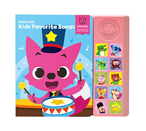 Pinkfong Children's Favorite Songs Sound Book, Sky/Pink, 8.7