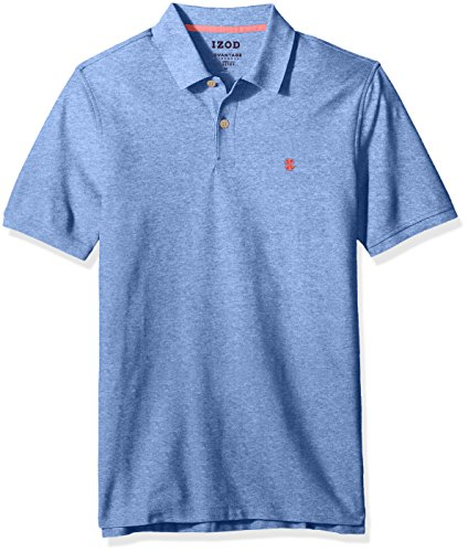 IZOD Men's Advantage Performance Solid Polo (Regular and Slim Fit), Olympian Blue, Large
