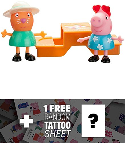 Picnic Time : Peppa Pig 2-Mini-Figure Pack + 1 FREE Official