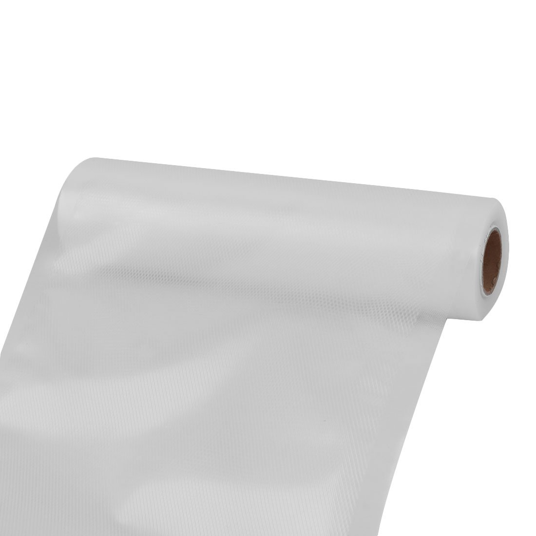 uxcell PVC Household Refrigerator Meat Fruit Food Storage Bag Vacuum Roll 5M Length White