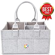 Baby Diaper Caddy and Toy Storage Organizer | Portable Diaper Bag for Infants | Stroller Bag | Baby Registry | Large & Sturdy Nursing Bag | Great Baby Shower Party Gift | Newborn Car Travel Basket