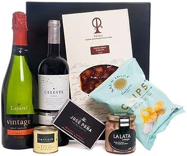 Pack con Vino, Cava y Aperitivos Selectos: Amazon.es: Alimentación y bebidas