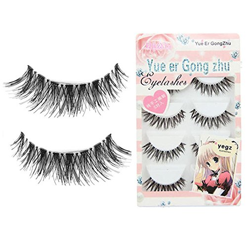 Lisin False Eyelashes Make up,Big sale! 5 Pair/Lot Crisscross False Eyelashes Lashes Voluminous HOT eye lashes (Black)