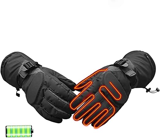 Mens Woven Touch Screen Glove with 2 Contrast Finger Tips Warm Winter