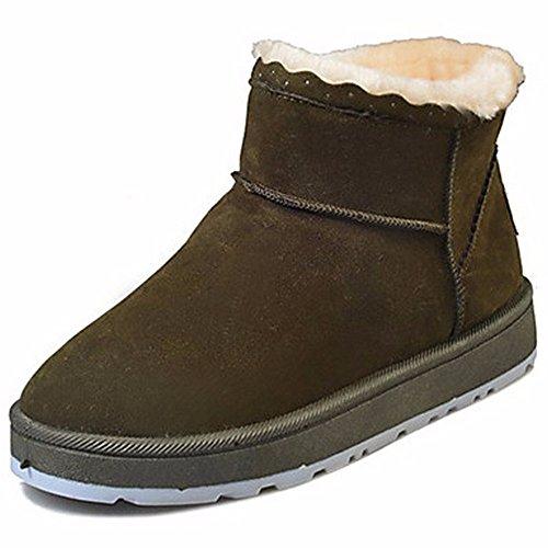 ZHUDJ Chaussures Pour Femmes Bottes D'Hiver Bottes Neige Caoutchouc Bout Rond Pour L'Extérieur Violet Vert Gris Noir green U1z4J