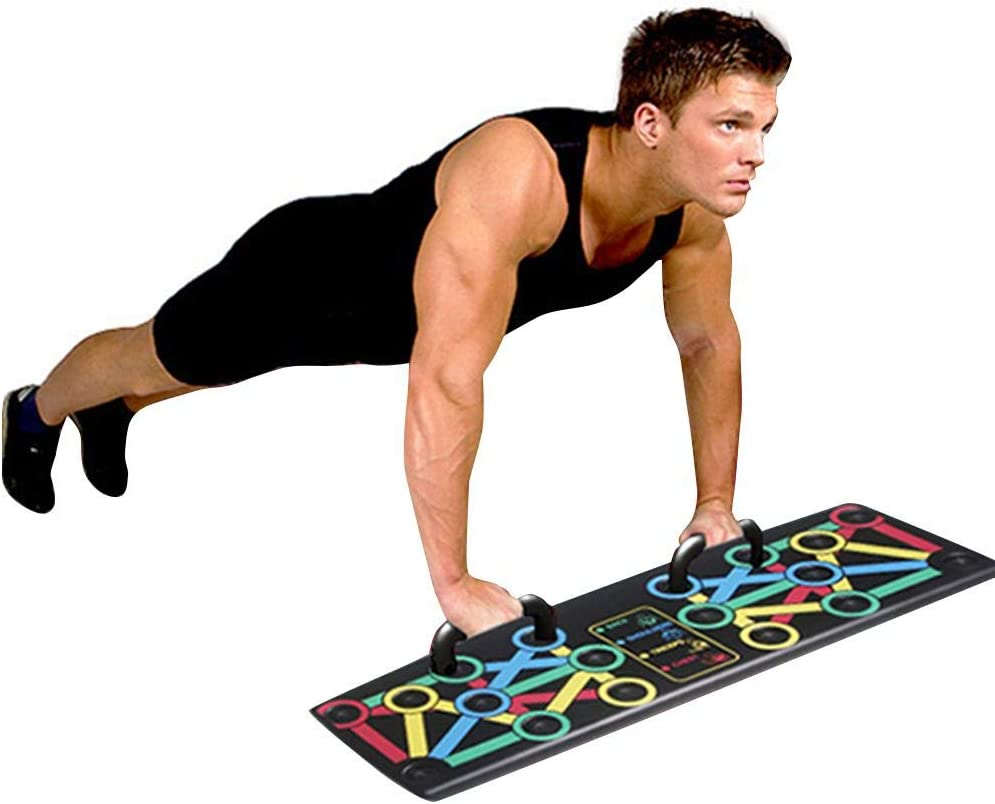 Haodene Power Press Push Up Complete Push Up Training System Syst/ème De Planche Push Up /À Code Couleur avec Poign/ées De Soul/èvement pour Pectoraux///épaules//latissimus Dorsi//Triceps