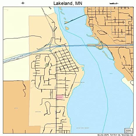 Amazon.com: Large Street & Road Map of Lakeland, Minnesota MN ...