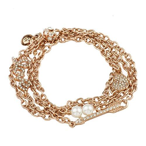 John Wind Heart Necklace (John Wind, Love Sparkle Necklace and Bracelet Wrap, Pink)