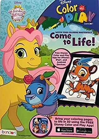 Disney Whisker Haven Color And Play Super Activity Coloring Book