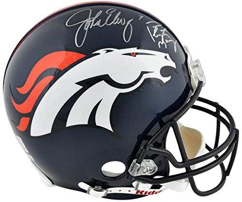 John Elway & Peyton Manning Denver Broncos Dual Autographed Pro-Line Riddell Authentic Helmet - Fanatics Authentic Certified