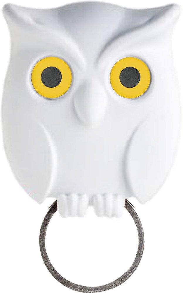 Qualy Night Owl Key Holders with Blinking Eyes Danish Design (White) 5217052WH