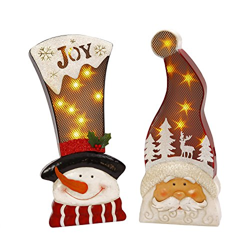 Outdoor Lighted Snowman Head - 6