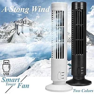 ningfulu101 Ventilador oscilante, Mini Ventilador portátil USB, Ventilador de Torre sin Hojas, Aire Acondicionado, purificador de Aire, Ventilador de Torre con Cable (10.5 cm x 33 cm): Amazon.es: Hogar