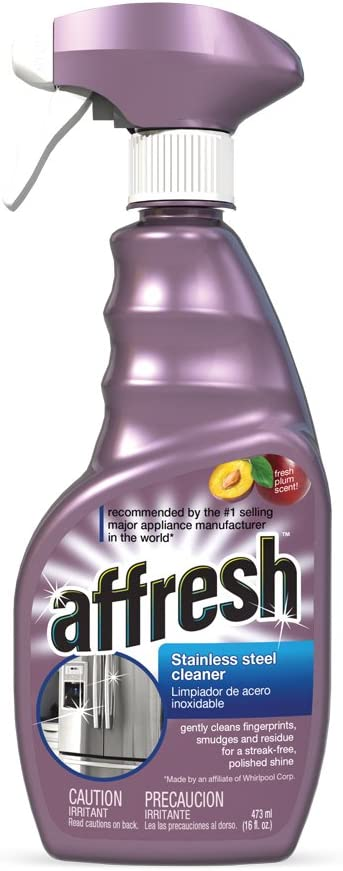 The W10355016 Whirlpool Afresh 16-Ounce Stainless Steel Cleaner