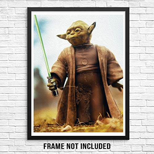 Sincerely, Not Yoda Art Print Star Wars Wall Poster Picture 11x14 UNFRAMED Modern Action Figure Artwork for Bedroom Living Room Children's Playroom Kids Bathroom or Baby Nursery (11