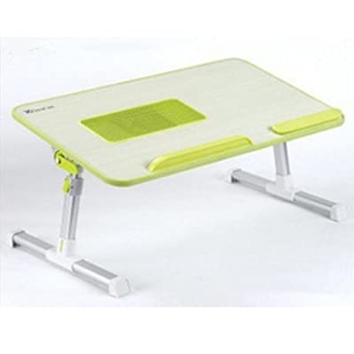 réglable Bureau de levage mobile de table de bureau de dortoir mobile de bureau de table de dortoir 3 couleurs facultatives 520 * 300 * 9mm Peut être tourné (Couleur : Vert)