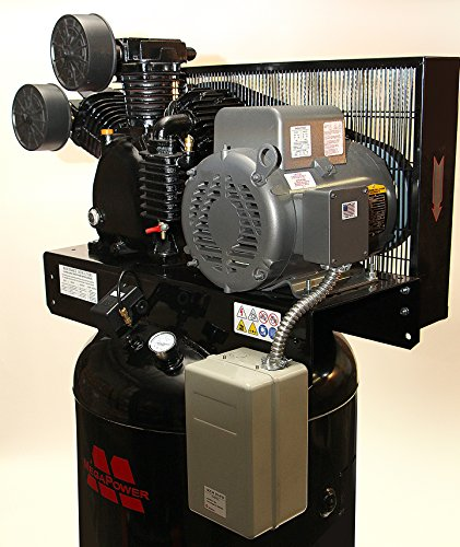 Price comparison product image 7.5 HP Single Phase Motor 80 gal Vertical Air Compressor w Two Stage Pump w starter