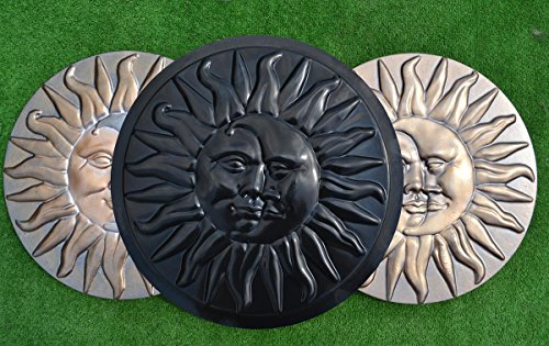 SUN & MOON CONCRETE PLASTER PLASTIC MOLDS STEPPING STONE GARDEN PATH #S11 (Mold Plastic Abs Stone Stepping)