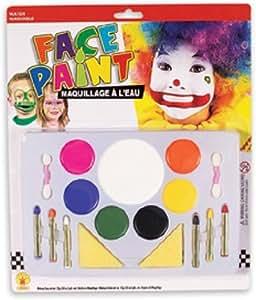 Large Clown Face Painting Makeup Set