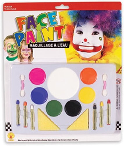 Large Clown Face Painting Makeup Set]()