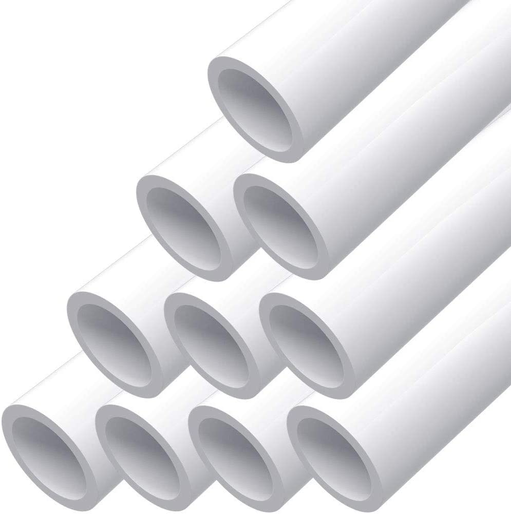 "letsFix PVC Pipe 1"" Schedule 40 Furniture Grade and Plumbing Projects Available, White [40"" x 10 Pack]"