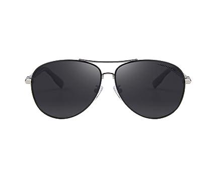 b1763bb513d Amazon.com  MERRY S Polarized Sunglasses Men s Driver Glasses Bamboo Leg  S8766 (Black