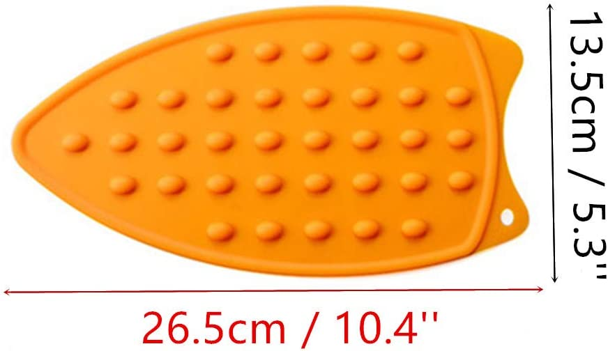MIAO JIN 4 Pcs Heat-Resistant Silicone Iron Rest Pad for Ironing Board Steam Compact Iron Blue, Red, Green, Orange